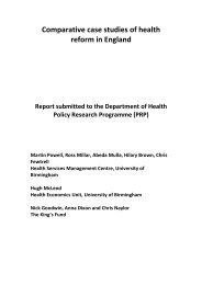Comparative case studies of health reform in England (PDF)
