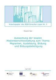 BQN Arbeitspapier 2 - Rhein-Ruhr-Institut für Sozialforschung und ...