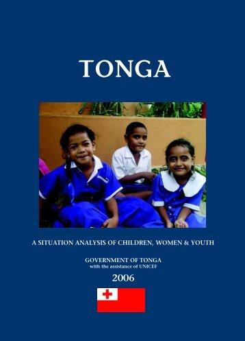 GOVERNMENT OF TONGA - Unicef