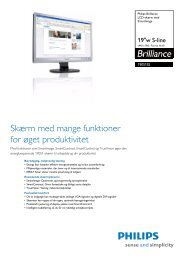 190S1SS/00 Philips LCD-skærm med SmartImage - PROconsult ...