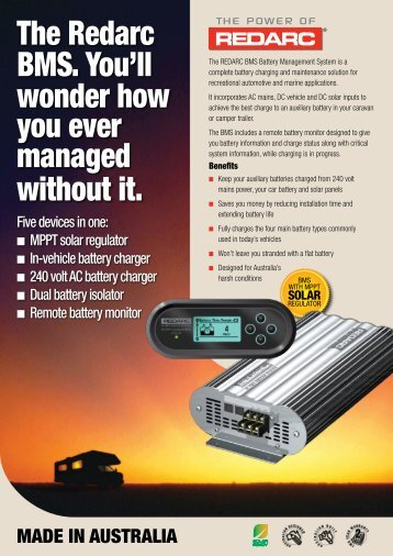 Product brochure BMS - REDARC Electronics