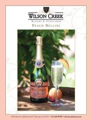 PEACH BELLINI - Wilson Creek Winery