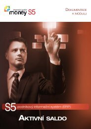 Modul Aktivní saldo - Cígler software, a.s.