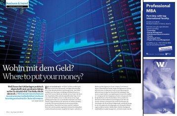 Wohin mit dem Geld? Where to put your money? - Private Banking ...