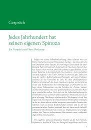 Jedes Jahrhundert hat seinen eigenen Spinoza (PDF)