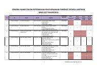 Senarai Calon KPSL Memasuki Gred S27 - Jabatan Kemajuan ...