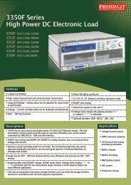 3350F Series High Power DC Electronic Load - Measuretronix Ltd.
