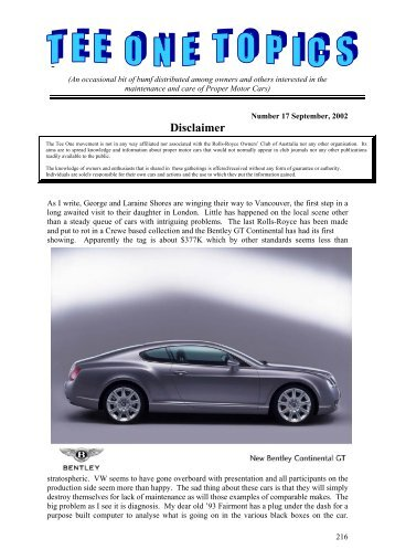 Edition 17 - Rolls-Royce Owners' Club of Australia (Victoria Branch)