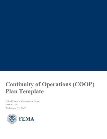 Continuity of Operations (COOP) Plan Template