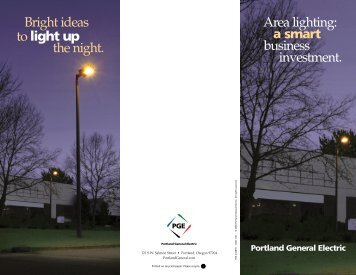 Area lighting - Portland General Electric