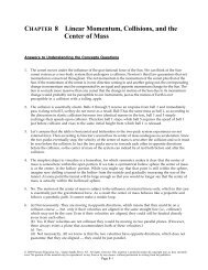 CHAPTER 8 Linear Momentum, Collisions, and the Center of Mass