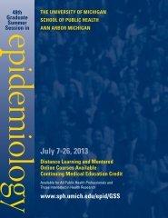 GSS Brochure - University of Michigan School of Public Health