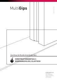 konstruktionsdetails – bodenanschluss, elastisch - Multigips