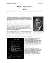 Martin Luther King - The Nobel Peace Laureate Project