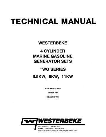 Westerbeke Generator Installation Manual