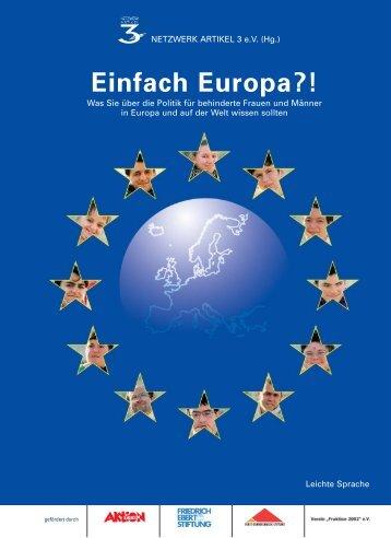 Einfach Europa?! - Fürst Donnersmarck Stiftung