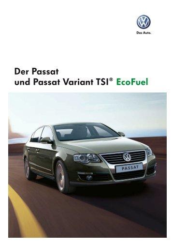 Der Passat und Passat Variant TSI® EcoFuel - Sprüngli Druck AG