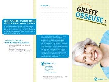 GREFFE OSSEUSE : - Zimmer Dental