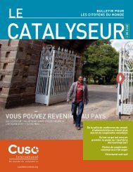 Le Catalyseur printemps - Cuso International
