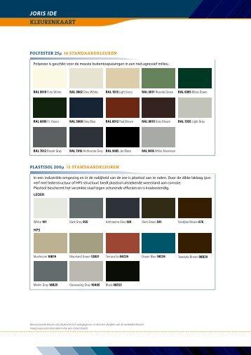 joris ide kleurenkaart - Proximedia