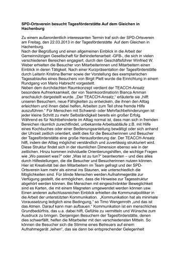 Bericht - SPD Ortsverein Hachenburg