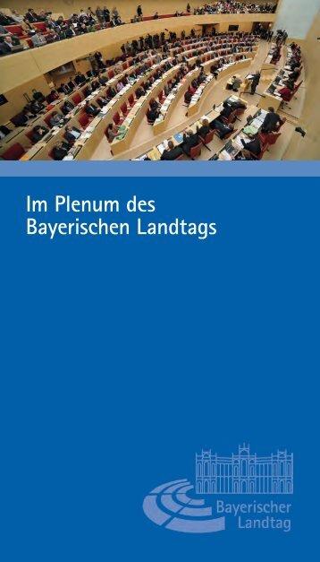 Die Sitzverteilung im Plenarsaal - Bayerischer Landtag