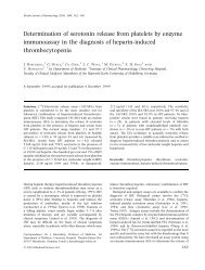 Determination of serotonin release from platelets by enzyme ...