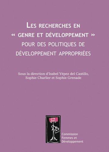 """Les recherches en """"genre et développement"""" pour des ... - Belgium"""