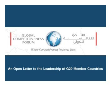An Open Letter to the Leadership of G20 Member Countries - Global ...