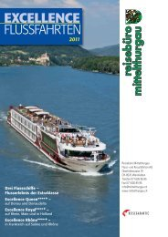 EXCELLENCE FLUSSFAHRTEN - Baumann Cruises