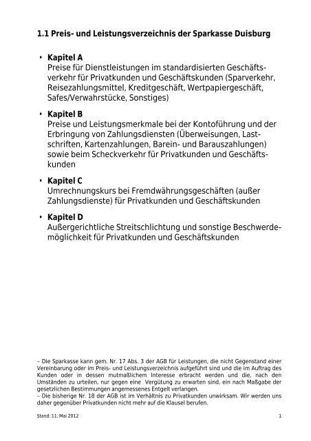 Drucken / Speichern - Sparkasse Duisburg