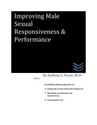 Improving Male Sexual Responsiveness & Performance