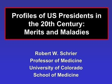 Profiles of US Presidents in the 20th Century: Merits and Maladies