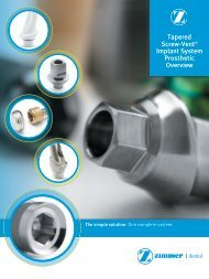 Tapered Screw-Vent® Implant System Prosthetic ... - Zimmer Dental