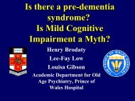 Is there a pre-dementia syndrome?