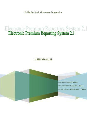 Electronic Premium Reporting System (EPRS) - Philippine Health ...