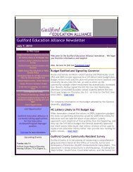 July 7, 2010 - Guilford Education Alliance