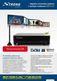 Digitálny terestriálny prijímač s vysokým rozlíšením SRT 8113