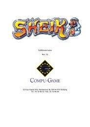 76 10 98 00 Fax: 76 10 98 98 - Compu Game