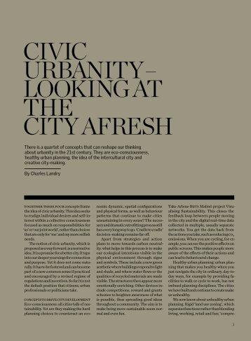 CiviC Urbanity – Looking at the City afresh