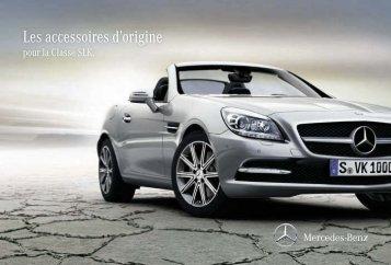 Les accessoires d`origine pour la Classe SLK - Mercedes-Benz ...