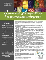 Winter 2010 Bulletin.indd - Center for Gender in Global Context ...