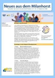 Newsletter zur Preisverleihung (PDF) - Soziale Stadt Potsdam e.V.