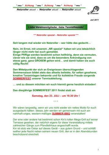 "Netzroller aktuell ""Spezial"" - Juli 2011 (pdf-Datei) - TSG Germania ..."