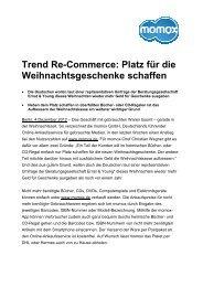 Trend Re-Commerce: Platz für die ... - momox GmbH