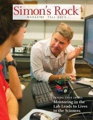 to read the latest Alumni Magazine - Bard College at Simon's Rock
