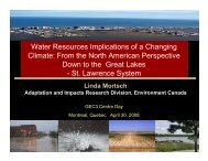 Water Resources Implications of a Changing Climate: From the ...