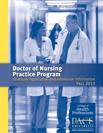 Doctor of Nursing Practice Program - Pace University
