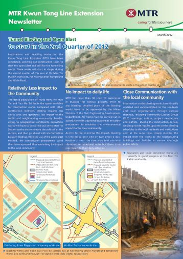 Kwun Tong Line Extension Newsletter - March 2012