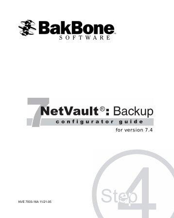 NetVault 7.4 Configurator Guide - Plasmon